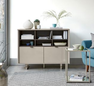 Buy Logan Taupe Small Sideboard from the Next UK online shop .