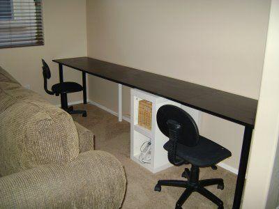 43/365 Long Computer Desk | Long computer desk, Computer desk, De