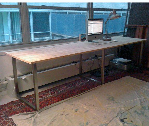 My Desk | Diy furniture cheap, Ikea diy, Long de