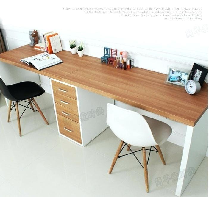 ikea desk top chic double long table desk computer desk home .
