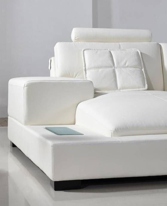 Soflex Philadelphia Ultra Modern White Faux Leather Corner .