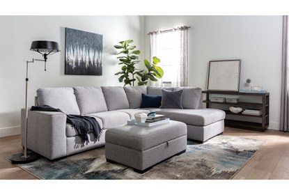 Lucy Grey 2 Piece Sectional with Right Arm Facing Chaise | Living .