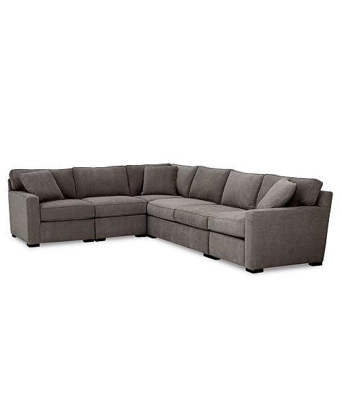 Furniture Radley 5-Pc. Fabric Sectional Sofa with Apartment Sofa .