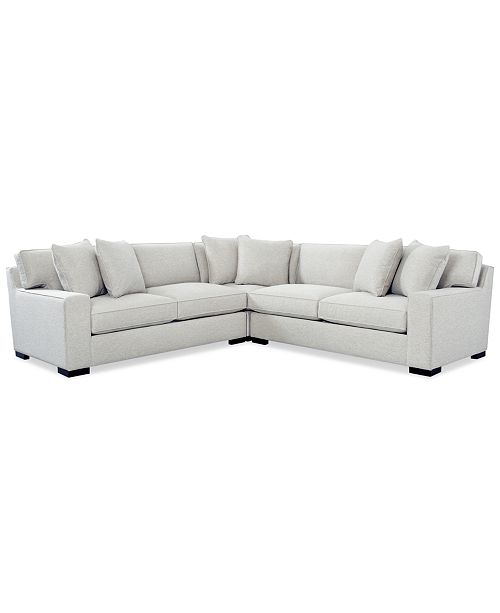 Furniture Bangor 3-Pc.Sectional Sofa, Created for Macy's & Reviews .