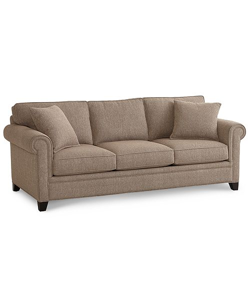 "Furniture Banhart 90"" Fabric Sofa, Created for Macy's & Reviews ."