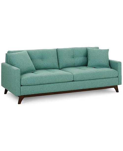 "Furniture Nari 83"" Fabric Tufted Sofa, Created for Macy's ."