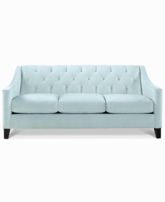 Chloe Velvet Tufted Sofa, Only at Macy's $499.00 Classic tufting .