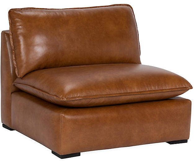 Maddox Slipper Chair - Caramel Leather - Community | Blue sofa .