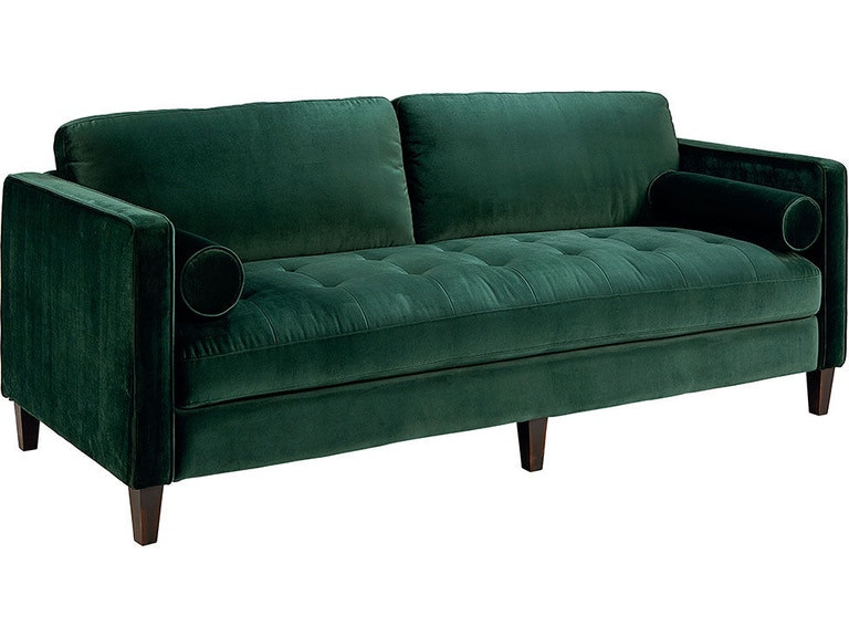 Magnolia Home by Joanna Gaines Living Room Dapper Sofa, Emerald .