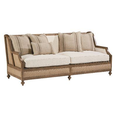 Magnolia Home Furniture Linen & Burlap Sofa - Foundation .