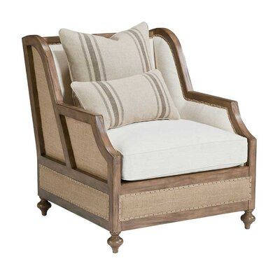 Magnolia Home Foundation Wingback Chair Upholstery Color: Brown in .