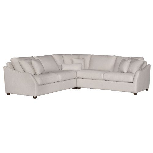 Magnolia Home Furniture Linen 3 Piece Sectional Sofa - Homestead .