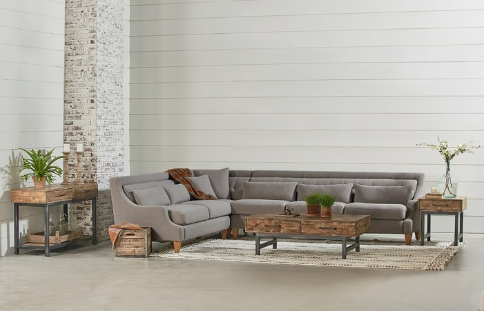 Three Piece Chisel Sectional Sofa By Magnolia Home Joanna Gaines .