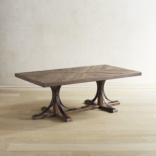 Magnolia Home Iron Trestle Shop Floor Coffee Table | Magnolia .