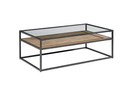Magnolia Home Iron Trestle Coffee Table By Joanna Gaines - Brown .