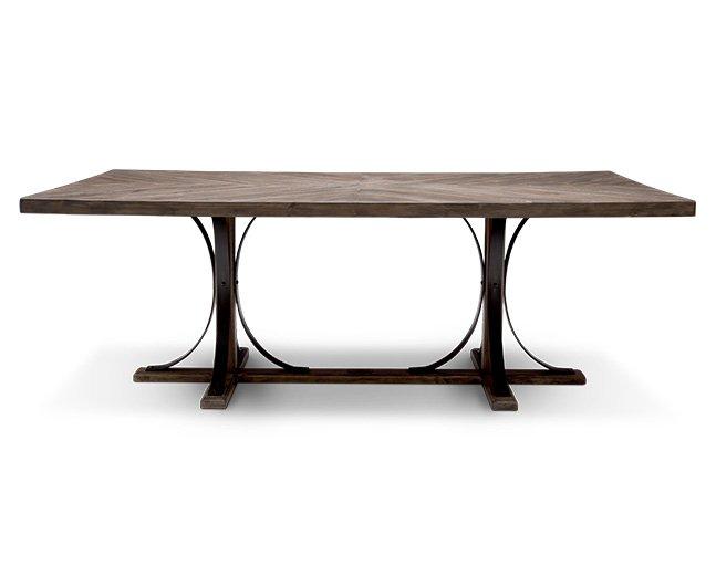 Magnolia Home Iron Trestle Dining Table - Furniture R