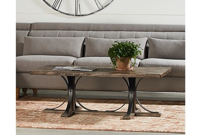 Magnolia Home Iron Trestle Coffee Table By Joanna Gaines | Living .