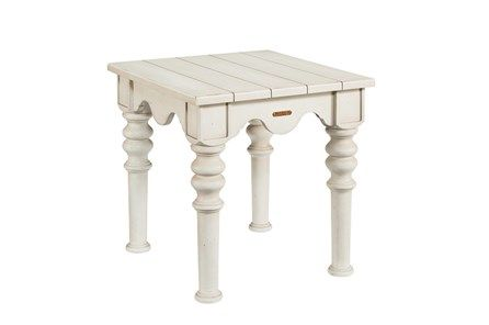 Magnolia Home Scallop Antique White End Table By Joanna Gaines .