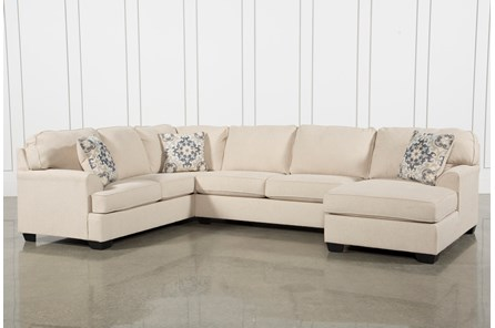 Natural Fabric Contemporary / Modern Sectionals & Sectional Sofas .