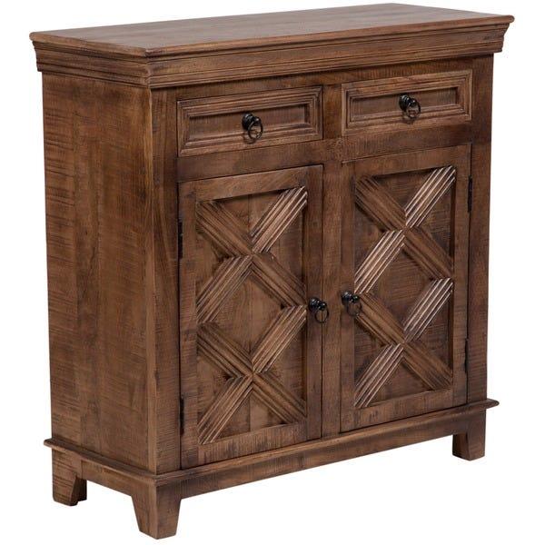 Shop Handmade Wanderloot Plantation Mango Wood 2-door, 2-drawer .
