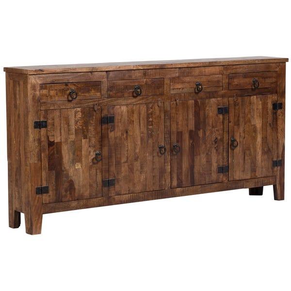 Shop Wanderloot Vintage Rustic Mango Wood 4 Door 4 Drawer .