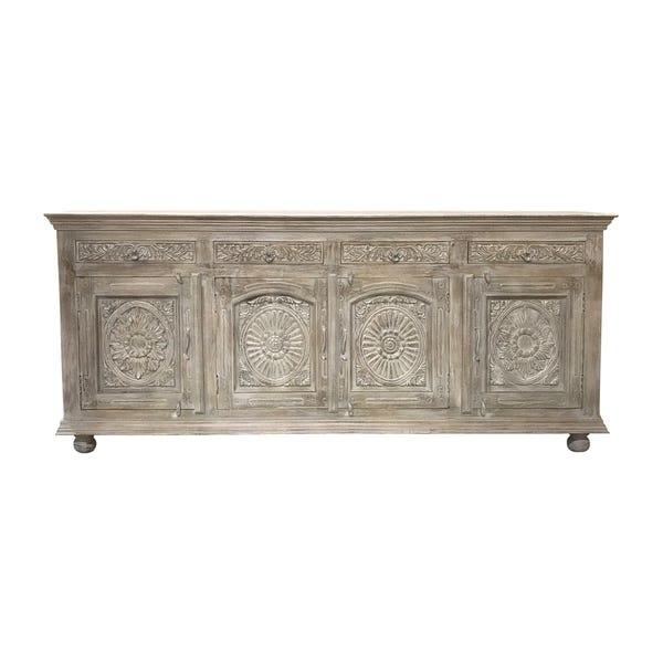Shop Aria Collection - 4 Drawer 4 Door Carved Sideboard .