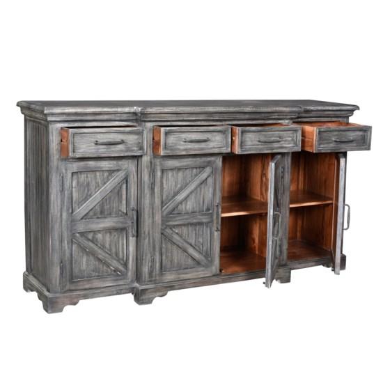 Crestview Collection - Bengal Manor Mango Wood Breakfront 4 Door 4 .