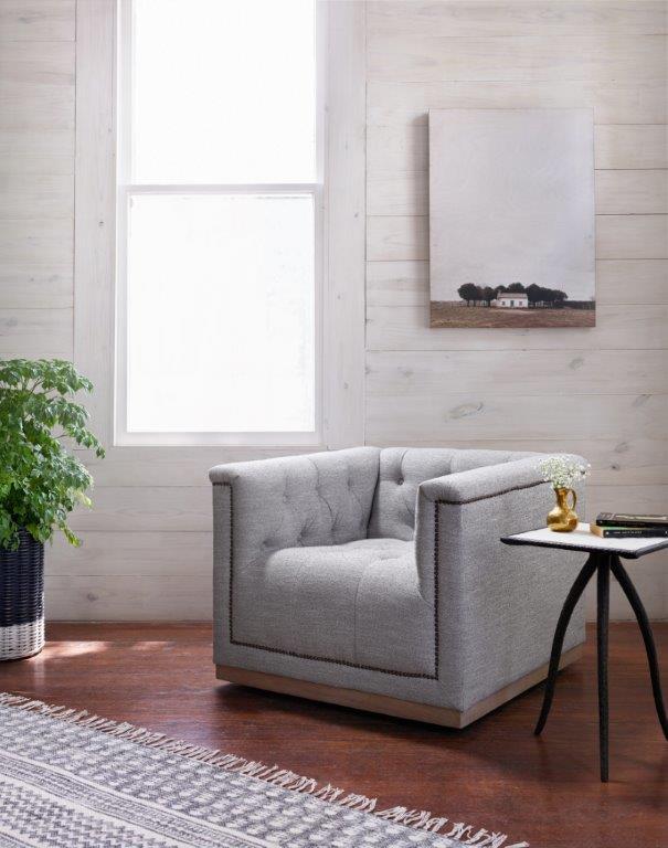 Four Hands Maxx Swivel Chair, Manor Grey CKEN-F4Z-099 - Seldens .