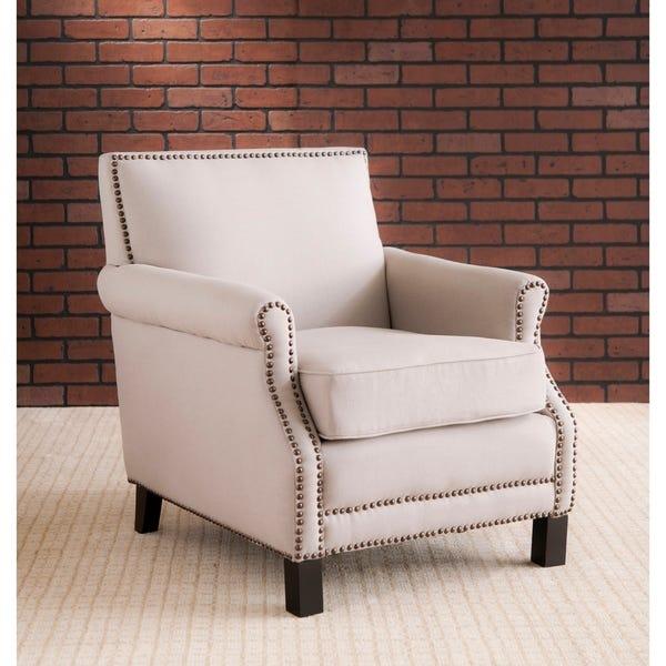 "Shop Safavieh Mansfield Beige Club Chair - 28.3"" x 33.1"" x 31.7 ."
