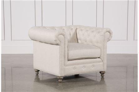 Mansfield 96 Inch Beige Linen Sofa - Living Spaces | Linen chair .
