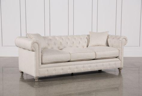 Mansfield 96 Inch Beige Linen Sofa | Linen sofa, Fabric sofa .