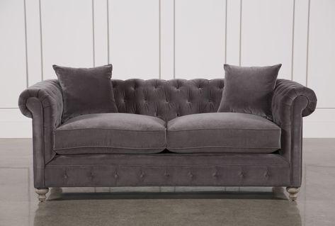 Mansfield 86 Inch Graphite Velvet Sofa | Sofa, Velvet sofa, Home dec
