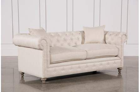 Mansfield 86 Inch Beige Linen Sofa (With images) | Couch and .