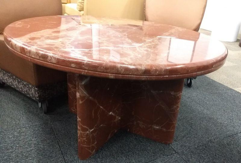 Round Coffee Table (Orange Marbl
