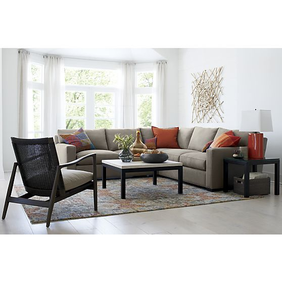 Axis II 3-Piece Sectional Sofa + Reviews | Crate and Barrel | 3 .