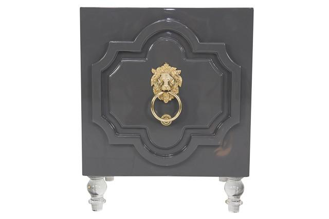 Modern Moroccan inspired Side Table in Charcoal - ModSh