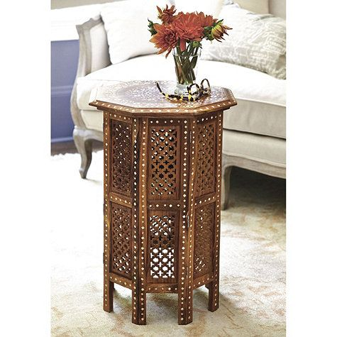 The Moorish influence of this Marrakesh Side Table by Ballard .