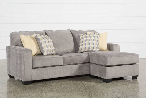 Ashley Mcculla Sofa With Reversible Chaise, Grey | Couch with .
