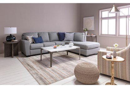 Mcdade Ash 2 Piece Sectional With Right Arm Facing Armless Chaise .