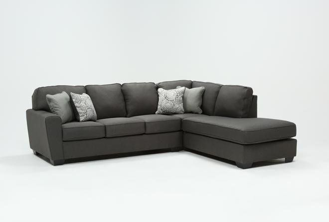 Mcdade Graphite 2 Piece Sectional With Right Arm Facing Armless .