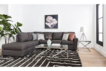 Mcdade Graphite 2 Piece Sectional With Left Arm Facing Armless .