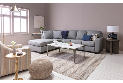 Mcdade Ash 2 Piece Sectional With Left Arm Facing Armless Chaise .