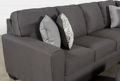 Mcdade Graphite Right Arm Facing Sectional With Oversized Accent .
