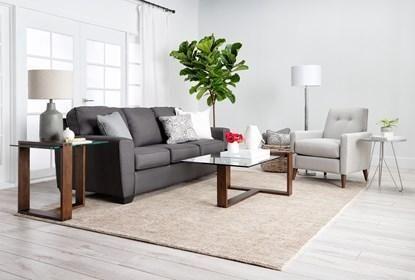 Ashley Mcdade Graphite Sofa - Grey - $295   Simple living room .