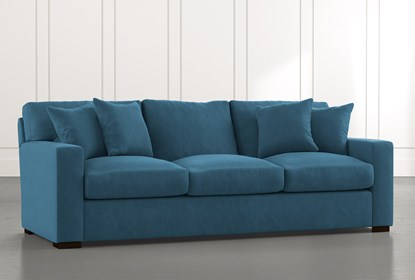 Mercer Foam II Teal Sofa | Living Spac