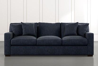 Mercer Foam II Navy Blue Sofa | Living Spac
