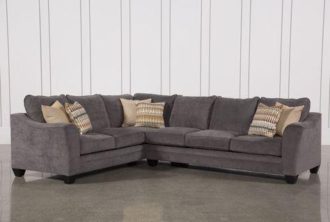 Mesa Foam 2 Piece Sectional, Grey, Sofas | Small living room .