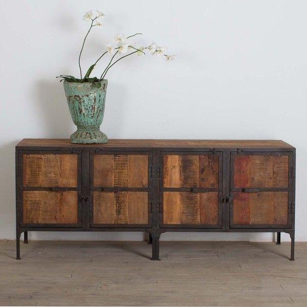 Metal-framed Reclaimed Wood Buffet | Wood and metal, Wood buffet .