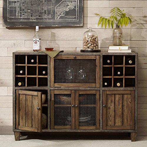 Industrial Rustic Vintage Liquor Storage Wine Rack Cart Metal .