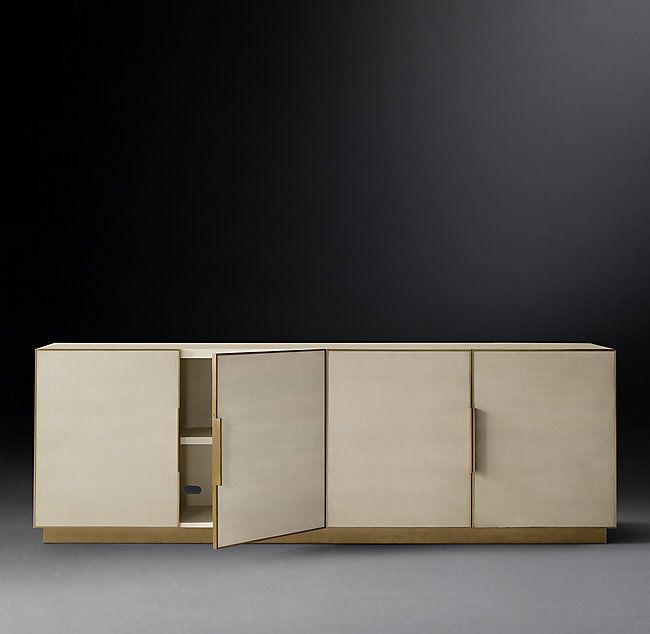 Cela Shagreen Panel 4-Door Sideboard (With images) | Shagreen .